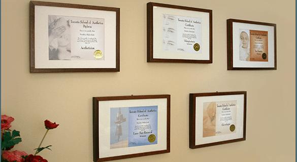 etobicoke spa certificate