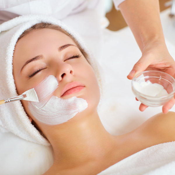 Image of facial care treatment process