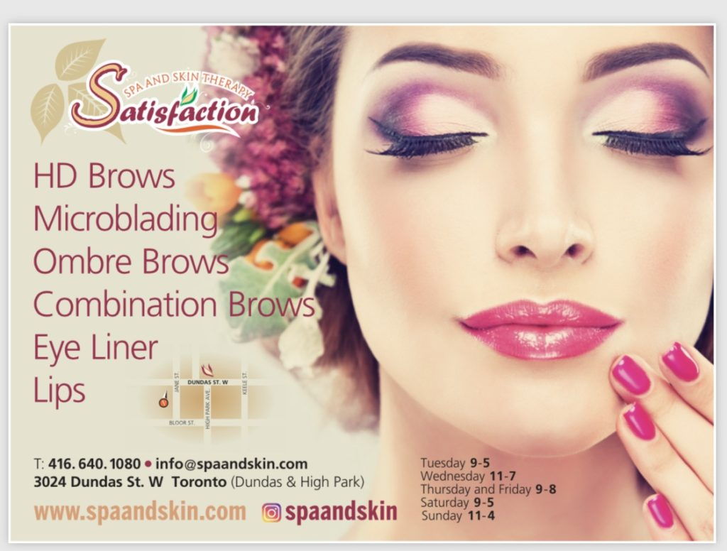 Image of spa and skin advertisement